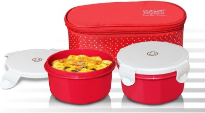 Dream Home Superb Lunch Box Microwave safe Containers (RED) 2 Containers Lunch Box(800 ml) at flipkart
