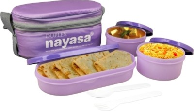 Nayasa Duplex 3 Containers Lunch Box Nayasa Lunch Boxes