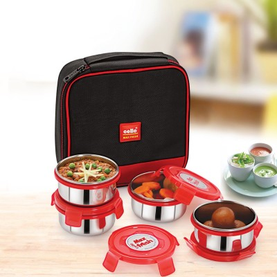 Cello Max Fresh Supremo 4 Containers Lunch Box(300 ml) at flipkart