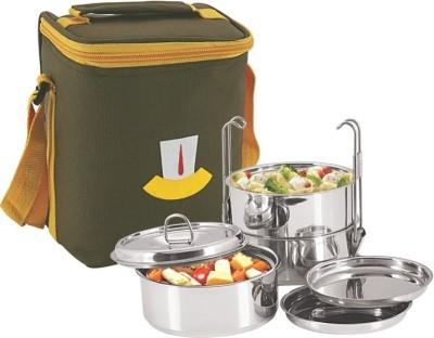 01f5b46f0 Nano 9 Bon Bon 3pc Insulated Clip Tiffin Box 3 Containers Lunch Box(1200 ml