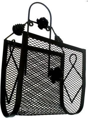GAC Trend Wall Hanging Magazine Holder(Black, Iron) at flipkart