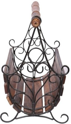 Craft Art India Floor Standing Magazine Holder(Brown, Wooden)  available at flipkart for Rs.1699