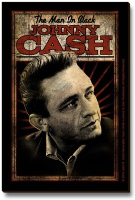 Bravado Johnny Cash The Man In Black Fridge Magnet, Door Magnet Pack of 1 Multicolor