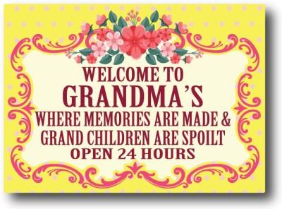 Nourish Welcome To Grandma's Fridge Magnet Pack of 1 Multicolor