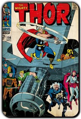 Marvel Thor whirlpool pack of 1  Officially Licensed  Fridge Magnet Pack of 1 Multicolor