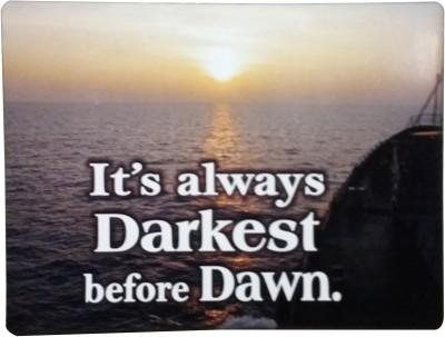 Fabionic It's always Darkest before Dawn. Fridge Magnet Pack of 1