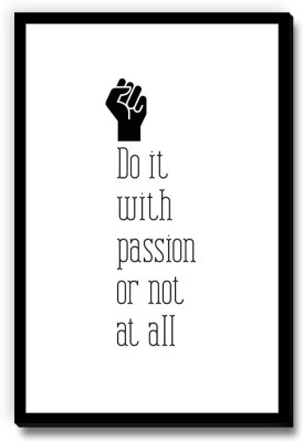 Seven Rays Do it wih passion or not at all Fridge Magnet Pack of 1 Multicolor