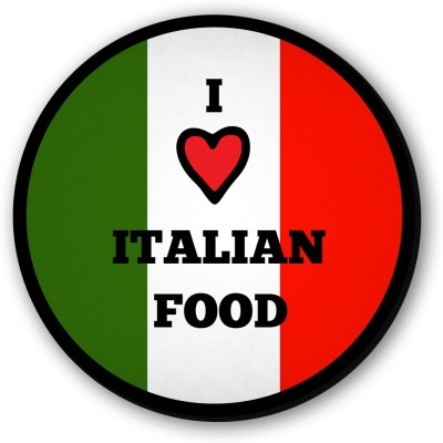 Seven Rays I Love Italian Food Fridge Magnet Pack of 1 Multicolor