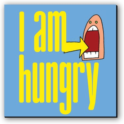 Seven Rays I am Hungry Fridge Magnet Pack of 1 Multicolor