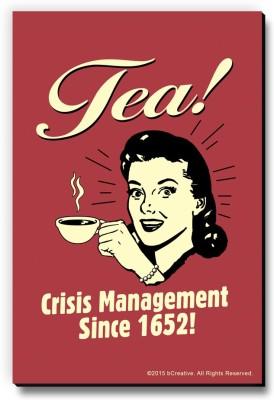 bCreative Tea! Crisis Management Since 1652! Fridge Magnet, Door Magnet Pack of 1 Multicolor