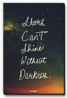 Seven Rays Stars Can't Shine Without Darkness Fridge Magnet Pack of 1 Multicolor