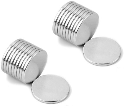 Neomag Mini Pack 10mm x 1mm Disc Shaped (20 Pieces) Neodymium Magnet Grade N35- Ni Multipurpose Office Magnets(Pack of 20) at flipkart