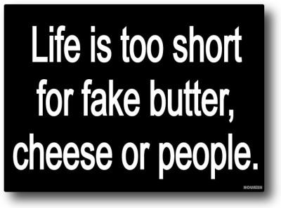 Nourish Life is Too Short Fridge Magnet Pack of 1