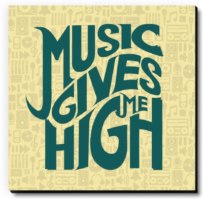 Seven Rays Music Gives Me High Fridge Magnet Pack of 1 Multicolor