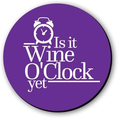 Seven Rays Wine O'Clock Fridge Magnet Pack of 1 Multicolor