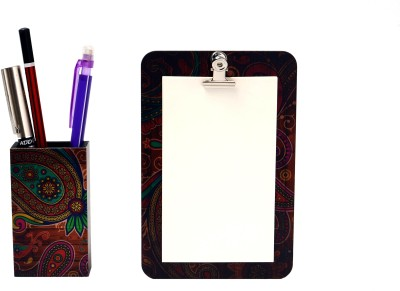My Own Paisley Teak Magnetic Note Pads Pack of 2