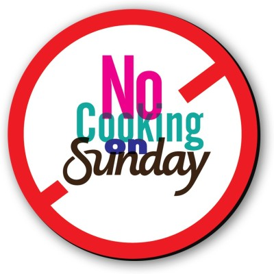 Seven Rays No Cooking On Sunday Fridge Magnet Pack of 1 Multicolor