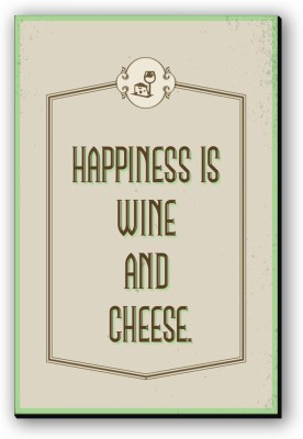 Seven Rays Happiness Is Wine   Cheese Fridge Magnet Pack of 1 Multicolor Seven Rays Magnets