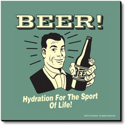 bCreative Beer! Hydration For The Sport Of Life! Fridge Magnet, Door Magnet Pack of 1 Multicolor