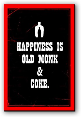 Seven Rays Happiness Is Old Monk   Coke Fridge Magnet Pack of 1 Multicolor