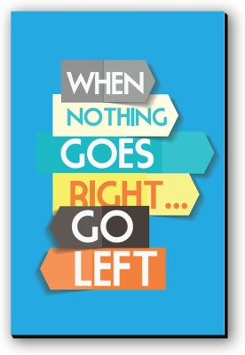 Seven Rays When Nothing Goes Right Fridge Magnet Pack of 1 Multicolor