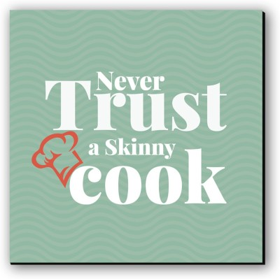 Seven Rays Never Trust Skinny Cook Fridge Magnet Pack of 1 Multicolor