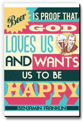 Seven Rays Beer is the proof that God loves us Fridge Magnet Pack of 1 Multicolor