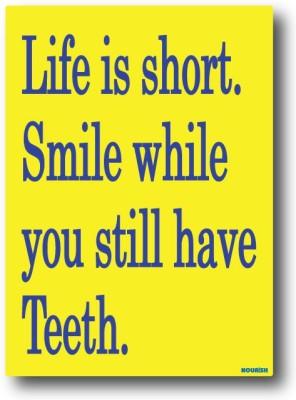 Nourish Life is Short , Smile Fridge Magnet Pack of 1