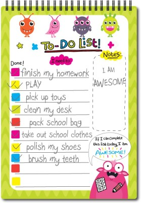 Nourish A5 Size Planner For Kids Magnetic Note Pads Pack of 1