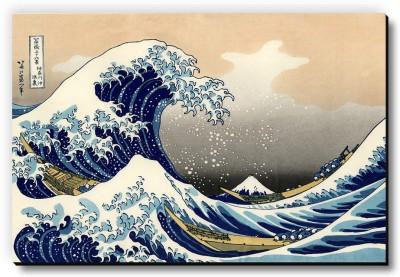 Seven Rays The Great Wave off Kanagawa by Katsushika Hokusai Fridge Magnet Fridge Magnet Pack of 1 Multicolor