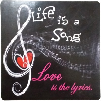 Fabionic Life is a Song Love is the lyrics Fridge Magnet Pack of 1