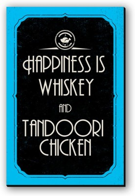Seven Rays Happiness Is Whiskey   Tandoori Chicken Fridge Magnet Pack of 1 Multicolor