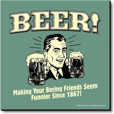 bCreative Beer Drink 'Till She Is Cute! Fridge Magnet, Door Magnet Pack of 1 Multicolor