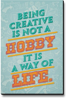 Seven Rays Being Creative Is Not A Hobby Fridge Magnet Pack of 1 Multicolor