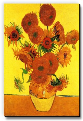 Seven Rays Vase with Fifteen Sunflowers by Vincent Van Gogh Fridge Magnet Pack of 1 Multicolor Seven Rays Magnets