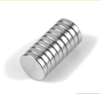 Neomag 8mm x 5mm Disc Shaped (50 pieces) NdFeB Grade N35- Ni Multipurpose Office Magnets Pack of 50(Silver) at flipkart
