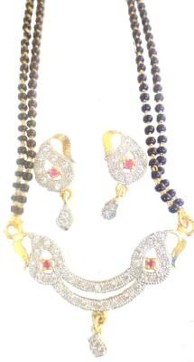 J S Imitation Jewellery Stylish American Diamond Alloy Mangalsutra