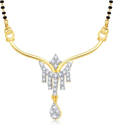 VK Jewels Lord Krishna with Flute Yellow Gold Alloy Pendant