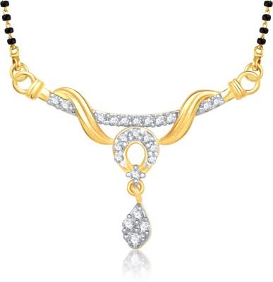 VK Jewels VK Jewels Dwisha Gold and Rhodium plated Mangalsutra Pendant Alloy Mangalsutra