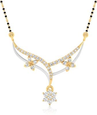 IskiUski Midnight Sparkle 14kt Diamond Yellow Gold Mangalsutra Tanmaniya