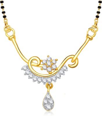 VK Jewels VK Jewels Creative Design Gold and Rhodium plated Mangalsutra Pendant Alloy Mangalsutra