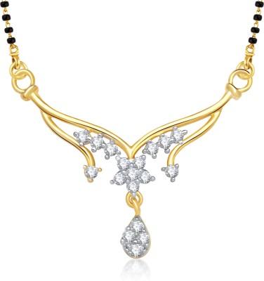 VK Jewels VK Jewels Padmaja Gold and Rhodium plated Mangalsutra Pendant Alloy Mangalsutra