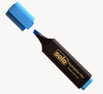 Solo highlighter Chisel Tip Permanent highlighters(Set of 1, Blue)  available at flipkart for Rs.200