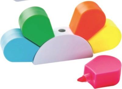 Flintstop Flourescent Bullet Type highlighter highlighter(Set of 5, Green, Blue, Orange, Pink, Yellow)  available at flipkart for Rs.199
