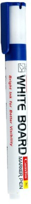 Camlin Bullet Tip Non Permanent whiteboard Markers(Set of 10, Blue)  available at flipkart for Rs.250