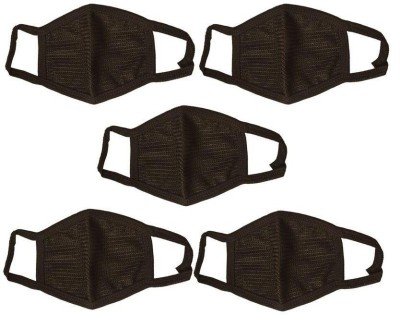 Highlight 5 Anti-pollution Mask(Black, Pack of 5) at flipkart