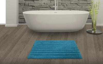 SPACES Cotton Bath Mat SPACES Swift Dry Cotton Bath Mat - Large(Blue, Large) at flipkart