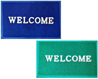 Attractive Homes PVC (Polyvinyl Chloride) Door Mat(Multicolor, Large) at flipkart