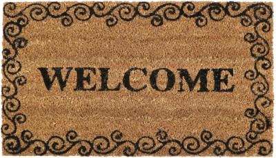 SWHF Coir, Rubber Door Mat Welcome Door Mat(Brown, Medium)