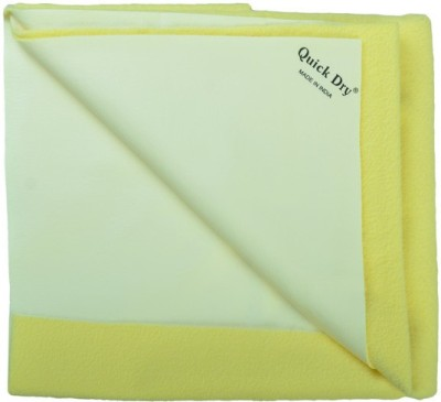 Quick Dry Polyester Baby Bed Protecting Mat Mat(Yellow, Large)